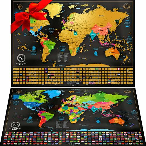 mapa mundi de rascar para viajeros